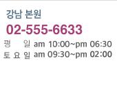 강남 본점 02-555-6633, 역삼 GS타워점 02-2005-0075